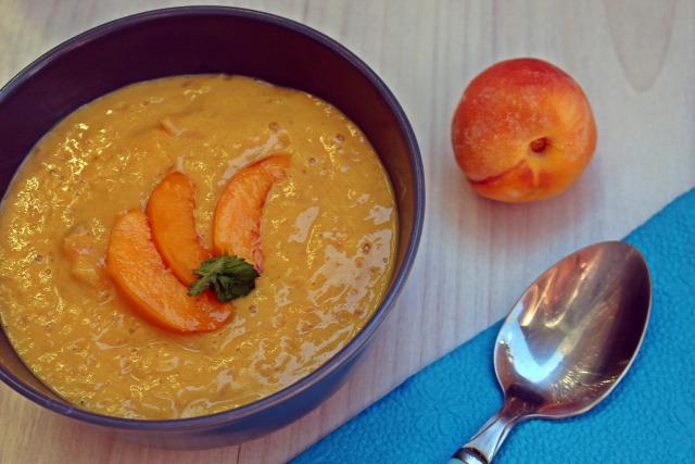 őszibarack barack fincsi ebédek vanília vanília kivonat tej főzőkrém leves krémleves