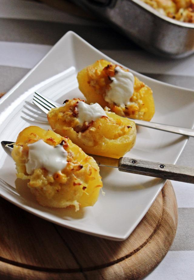 krumpli sajtkrém sonka kukorica újhagyma póréhagyma sajt rohanós vacsorák