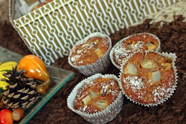 muffin gyors muffinok joghurt olaj cukor liszt körte szegfűszeg fahéj ánizs tojás