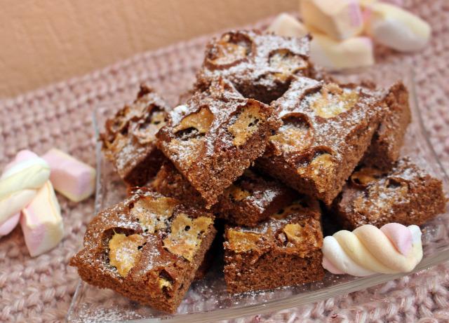 brownie pillecukor édességek cukor vaj csokoládé kakaópor liszt tojás