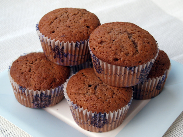 áfonya étcsoki muffin kakaó csoki gyors muffinok