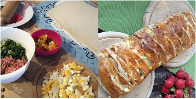 sonka húsvét rétes vendégvárók póréhagyma tojás répa borsó
