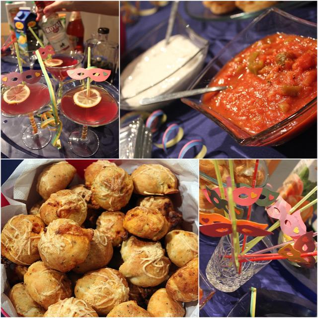 farsang képviselő fánk pizzagolyó salsa szósz tejföl buli saláta rukkola paradicsom koktél lime citrom gyümölcslé alkohol vendégvárók