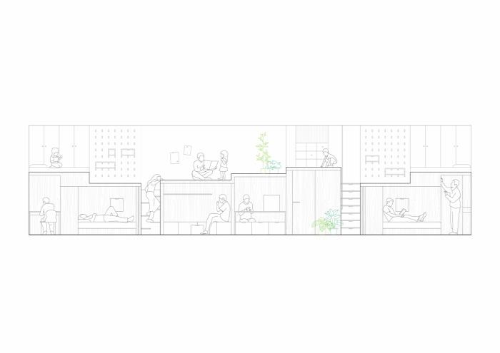 archdaily.com hutong residence B.L.U.E. Architecture Studio családi ház építészet lakberendezés Kína Ingatlanműhely