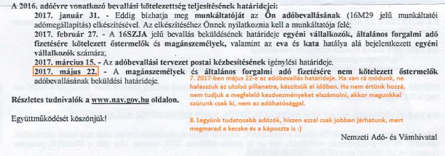 adóbevallás adóbevallási tervezet NAV Magyarország Ingatlanműhely