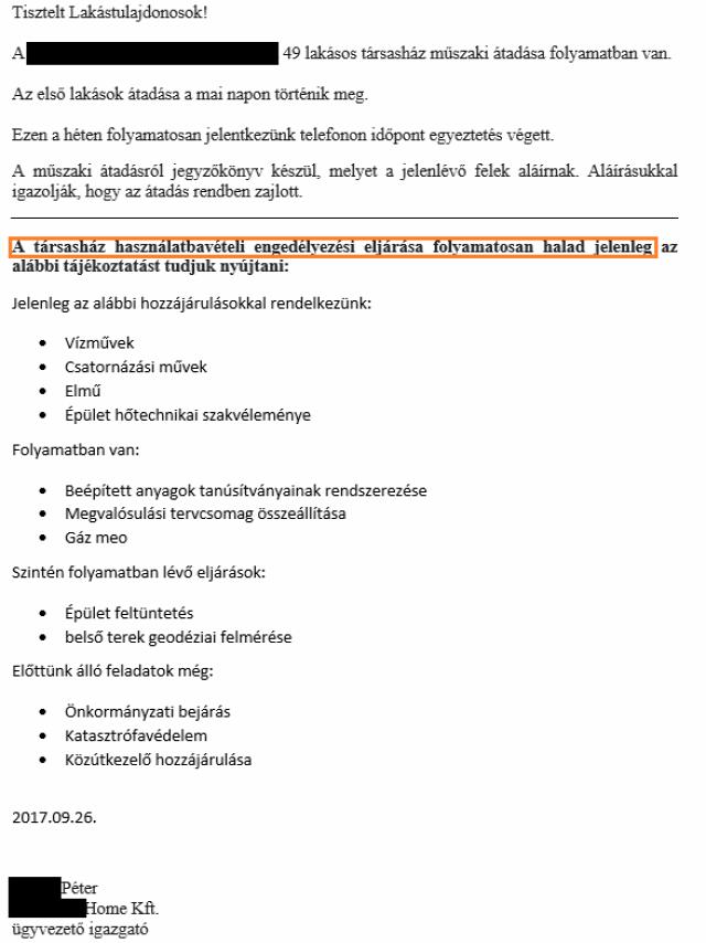 újlakáspiac  új építésű lakás műszaki átadás-átvétel használatbavételi engedély kötbér Budapest Magyarország  Ingatlanműhely