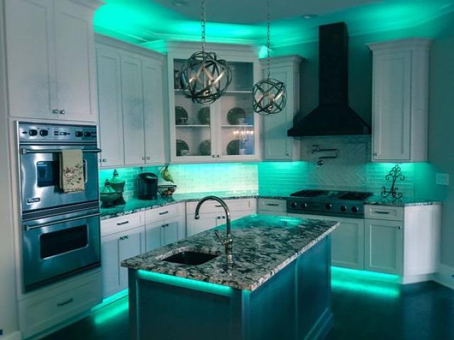 okosotthon otthonautomatika világítás konyha
