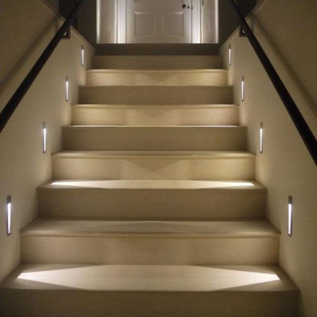 okos világítás otthon design lakberendezés lépcső világítás