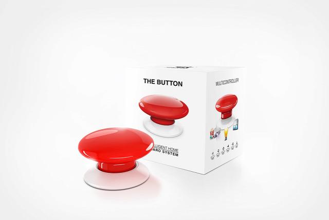 okosotthon fibaro button z-wave ces otthonautomatika vezetéknélküli eszköz