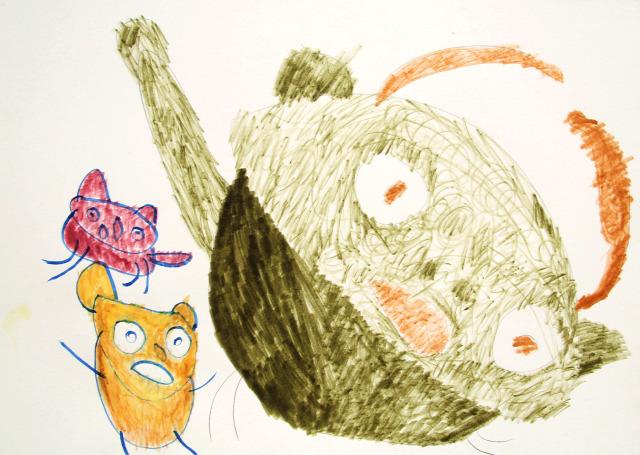 autizmus futás sport macska cica rajz művészet