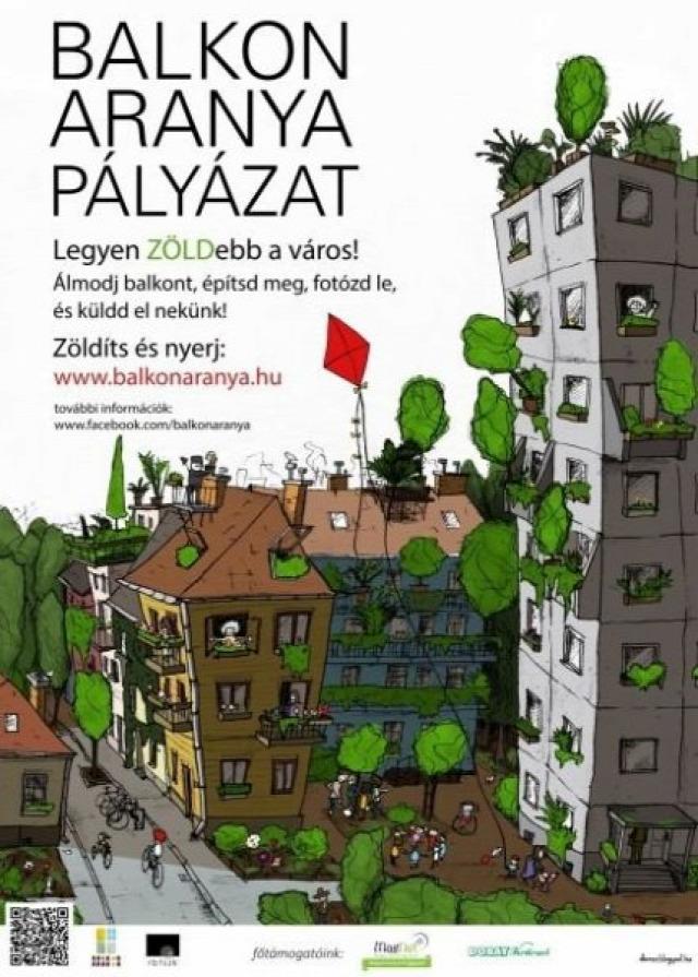 balkonzöldítés Balkon Aranya Pályázat 2016