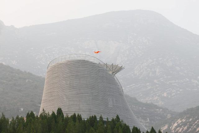építészet modern repülő ház shaolin kolostor Mailitis lett repülő színház