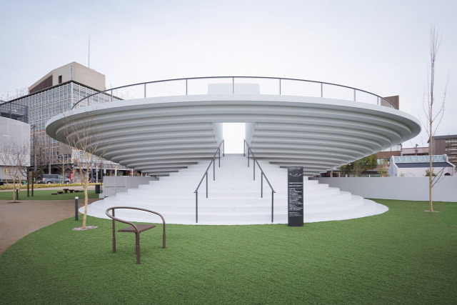 ufo kikötő park japán építészet archichat
