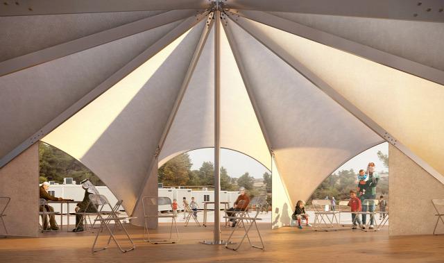 menekült menekültválság épület sátor lakás elhelyezés építészet terv