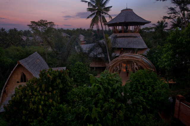 bambusz ház építészet építőanyag