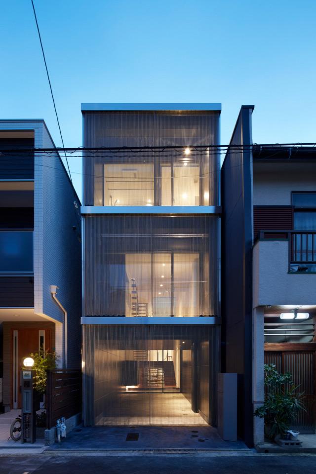 építészet házak keskeny japán archichat
