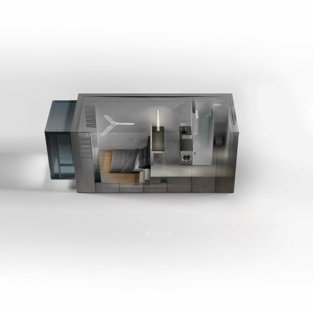 miniház mobilház luxusapartman épület usa archichat architacht kendik mezei füles építészet