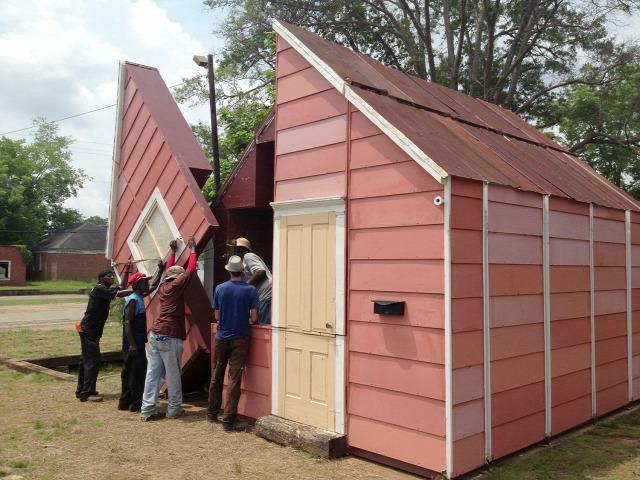 nyitható ház ház építészet archichat szinház átalakítás Mazzotta