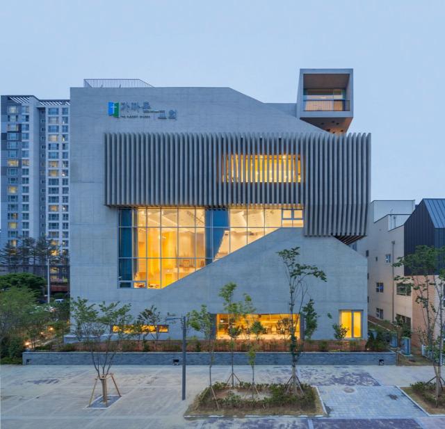 modern templom beton dél-korea építészet magasház BituMan archichat mezei dániel Gimpo
