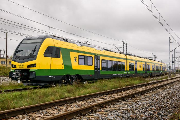 vasút GYSEV Flirt Stadler Lengyelország beszerzés