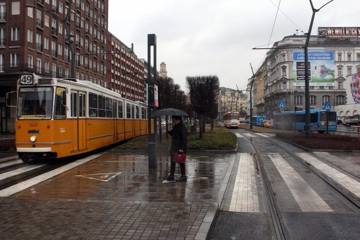 villamos Budapest BKV pálya pályahiba mérés