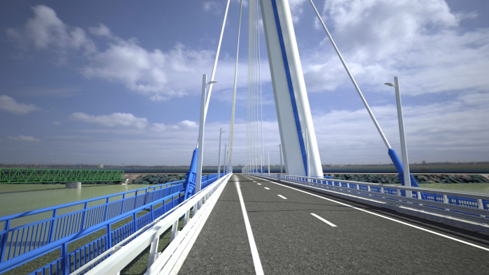 híd Komárom közút útépítés Szlovákia EU NIF beszerzés
