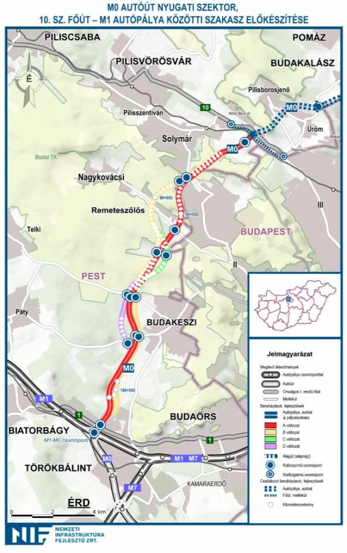 közút útépítés EU beszerzés M0 Budapest NIF