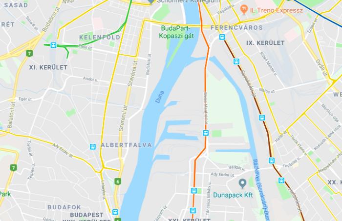 villamos Budapest beszerzés HÉV Csepel gyorsvasút híd