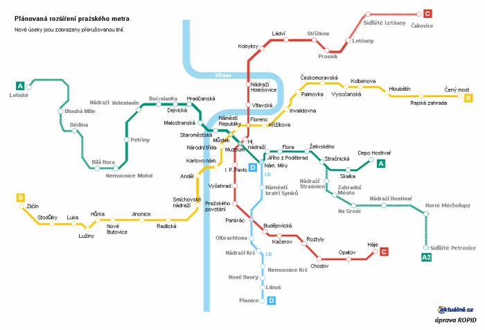 Prága gyorsvasút metró Csehország