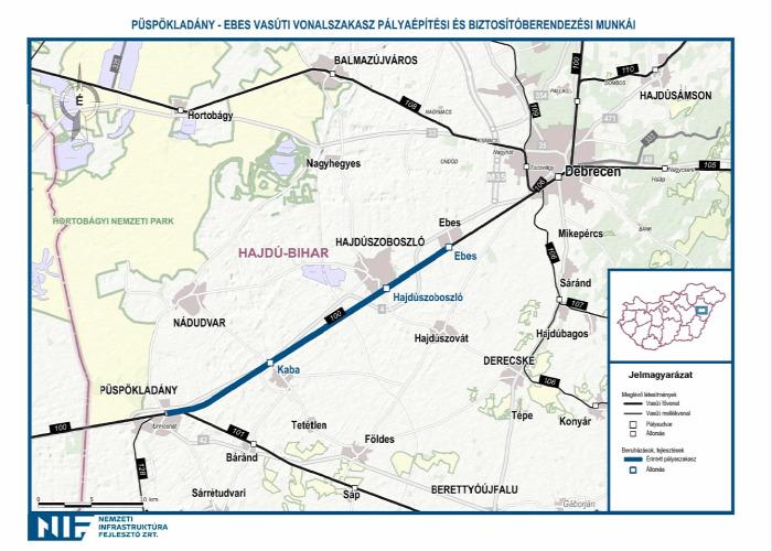 vasút 100-as vonal beszerzés EU rekonstrukció NIF NFM