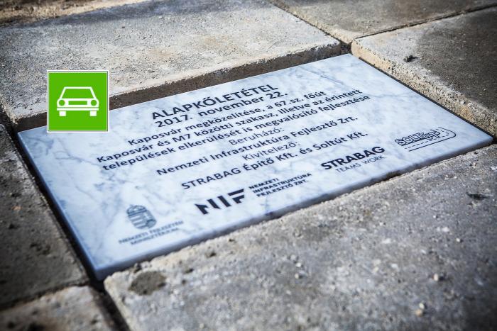 közút útépítés NFM NIF Kaposvár gyorsút KRESZ