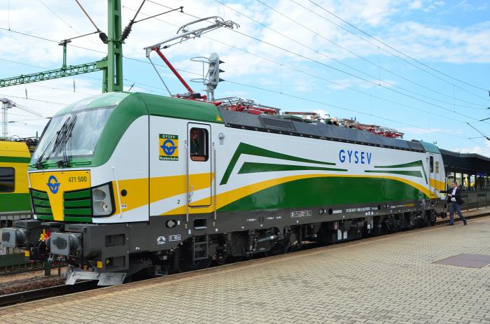vasút GYSEV mozdony beszerzés dizájn Vectron