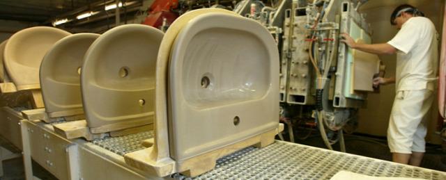 mosdógyártás kerámia Jika gyár iskolamosdófelújítás
