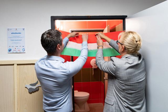 unilever iskolamosdó felújítási program 2019 pécsi éltes egymi speciális igényű mosdók újultak meg domestos