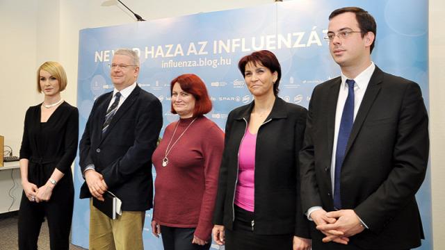 Kiss Anita Hardy Mihály Dr. Dánielisz Ágnes Nemzeti Fejlesztési Minisztérium influenza ellenes kampány SPAR Budapest Airport ÁNTSZ MÁV influenzajárvány influenza