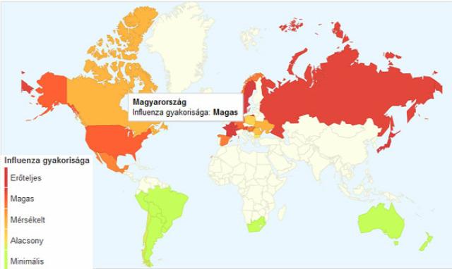 influenzafigyelés Google Flutrends influenza tünetei influenzaszerű megbetegedés OEK ÁNTSZ influenzajárvány influenza
