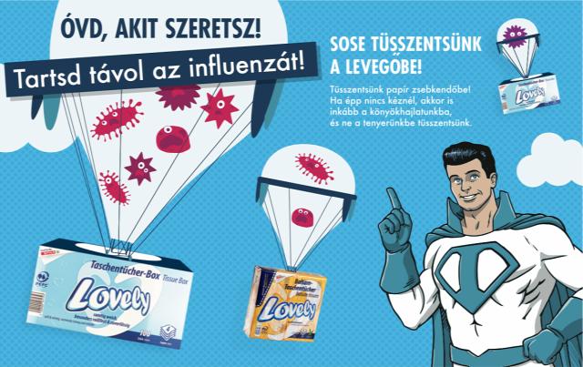 influenza nátha zsebkendő papírzsebkendő