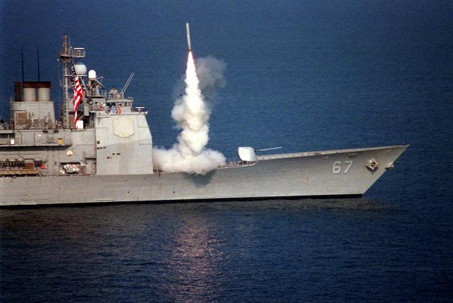 vízen levegőben tomahawk robotrepülő usa szíria haditengerészet biztpol