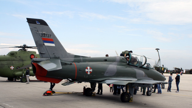 szerbia baleset levegőben légierő hírek