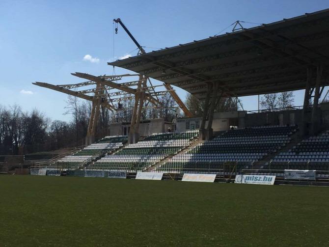 labdarúgás stadion felújítás stadionfelújítás Rákóczi-stadion Kaposvár Rákóczi FC Kaposvári Rákóczi FC modernizálás NB III.