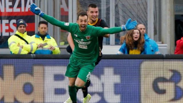 Olasz foci Olaszország Serie A Brignoli Benevento kapusgól Olasz foci Olaszország Serie A Brignoli Benevento kapusgól