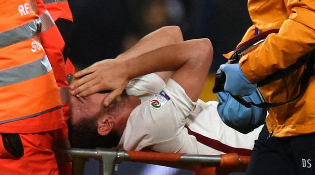 Olasz foci Bajnokok Ligája BL AS Roma Chelsea Juventus Olasz foci Bajnokok Ligája BL AS Roma Chelsea Juventus Olaszország Serie A sérülés