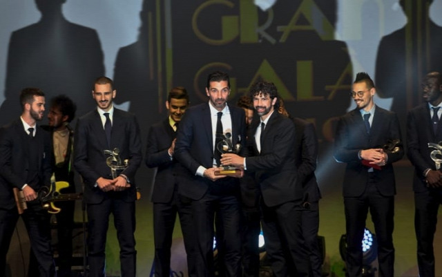 Olasz foci Gran Gala del Calcio Olaszország Buffon gála díjak Olasz foci Gran Gala del Calcio Olaszország Buffon gála díjak