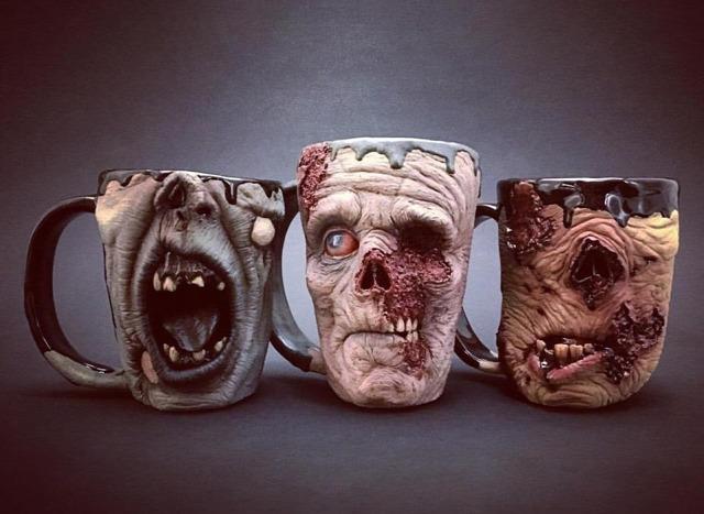 kerámia zombi agyagedény halloween