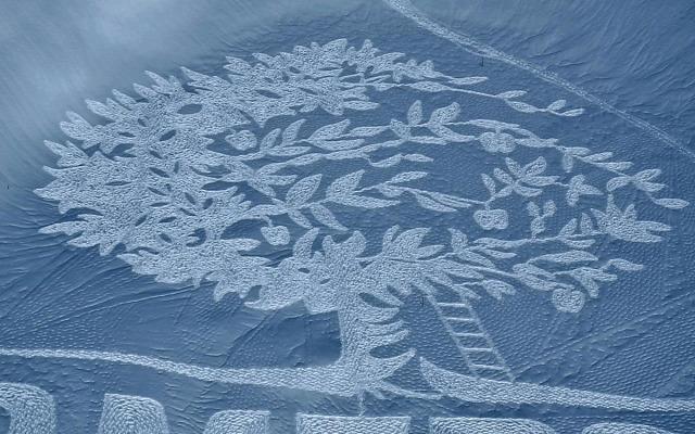 művészet érdekes hihetetlen oriási szép hó