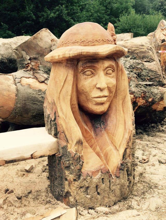 hihetetlen szobrász faragás fafaragás