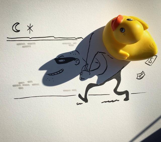 Vincent Bal rajz árnyék árnyék rajz