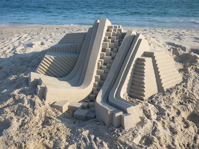 homokvár homokvár művész Calvin Seibert geometria érdekes