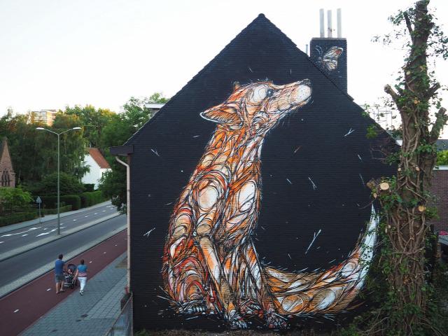 falfestés utcai művészet street art