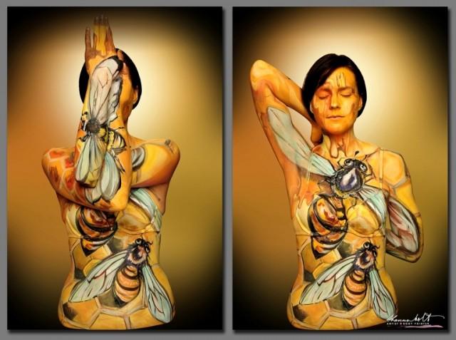 érdekes testfestés hihetetlen festés body art
